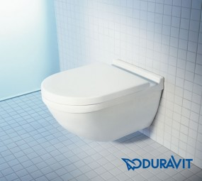 Duravit Starck 3 Wand-Tiefspül-WC rimless Set mit SoftClose