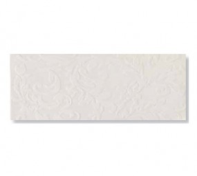 Silk White Flowers Wandfliese 25 x 60 cm